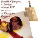 Zuccotto di Zampone e Cotechino Modena IGP con crema al Parmigiano Reggiano