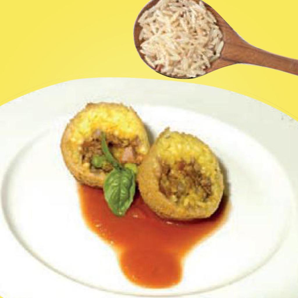 Arancino di riso e lenticchie con ragù di Zampone Modena IGP, ricetta