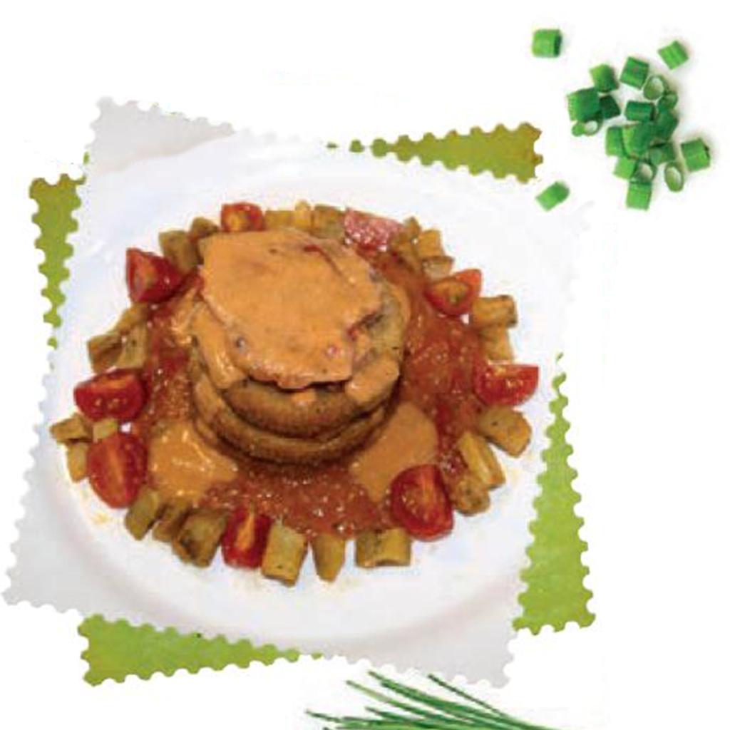 Millefoglie di melanzana rossa e Zampone Modena IGP, la ricetta