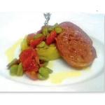 Zampone Modena IGP con tortino di patate al porro e favette