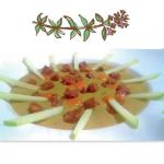 Chantilly di lenticchie, Cotechino Modena IGP e tartare di mele renette