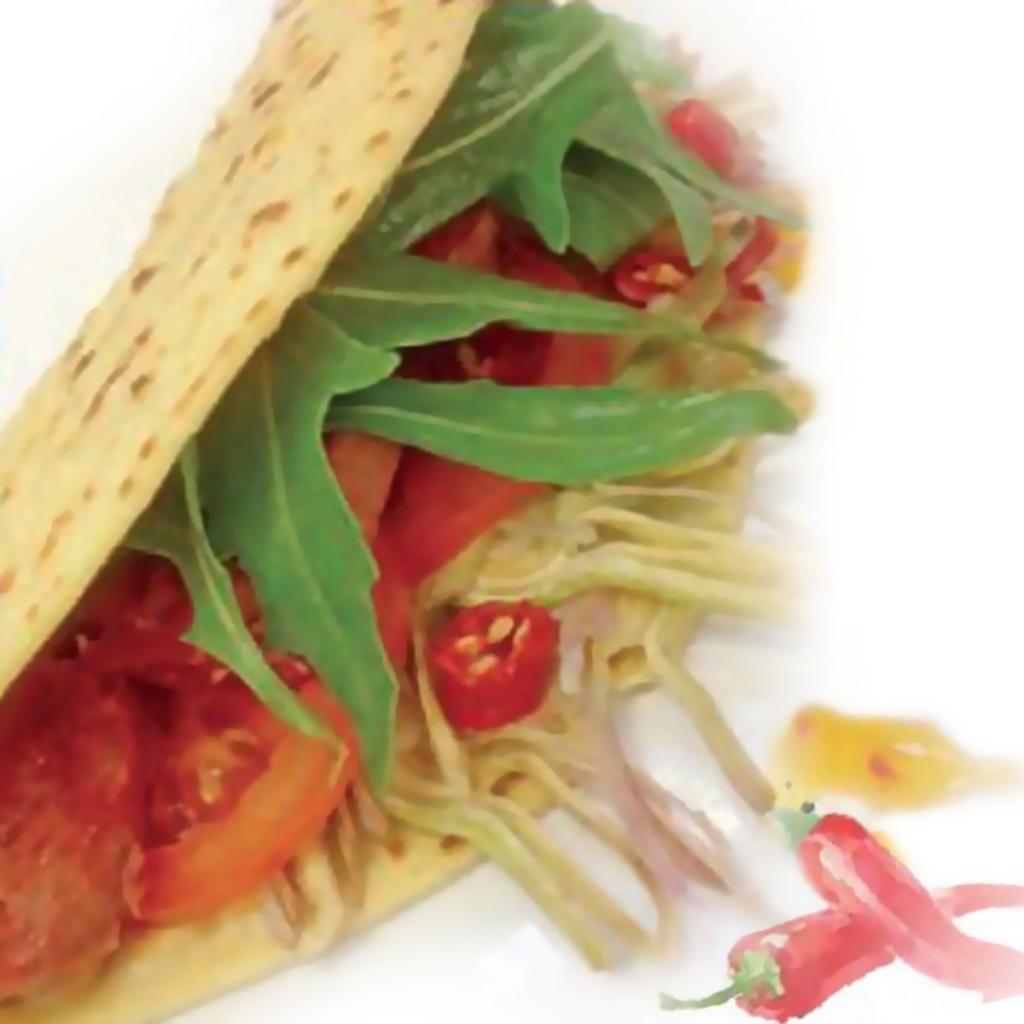 Tacos di farina di ceci e Zampone Modena IGP, rcietta