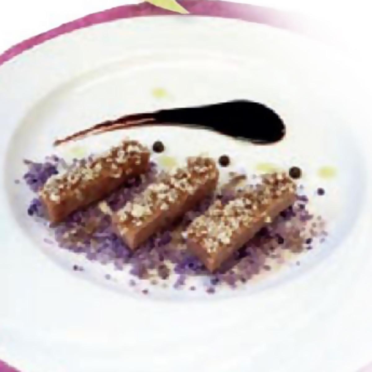 Tegolino con Cotechino Modena IGP con cioccolato fondente e cannella