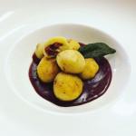 Gnocchi ripieni con Cotechino Modena IGP su salsa al Sagrantino