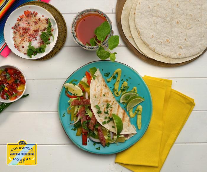 Tacos con cotechino Modena IGP