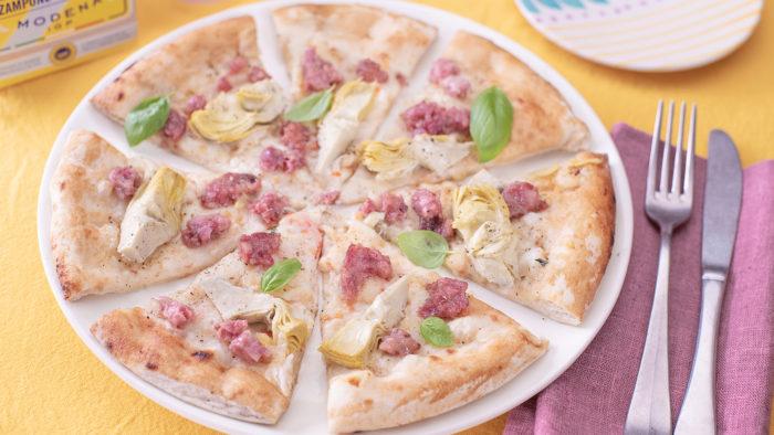 Pizza con Zampone Modena IGP e carciofi, la ricetta