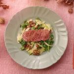 Foglie di Cotechino Modena IGP con insalata invernale